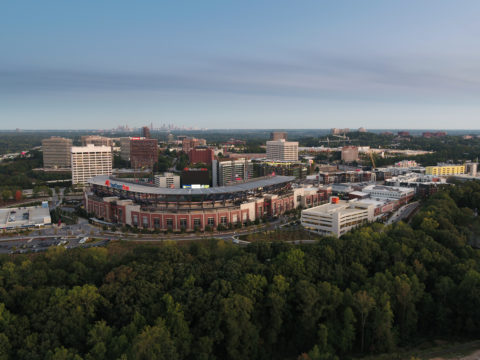 Aerial view of SunTrust park